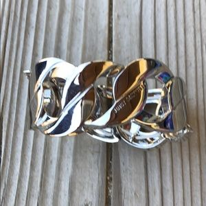 RARE Stunning Juicy Couture Silver Stretch Cuff!